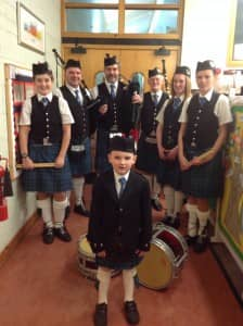 Newton hill Pipe Band, can you spot anyone you know?